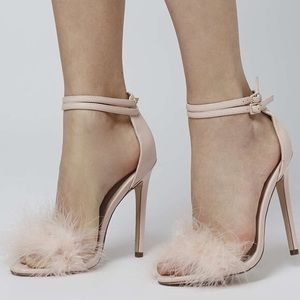 TopShop Reese Feather Heels